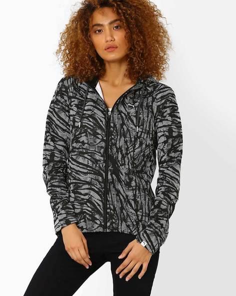Printed Sweatshirt With Raglan Sleeves By Puma ( Black )
