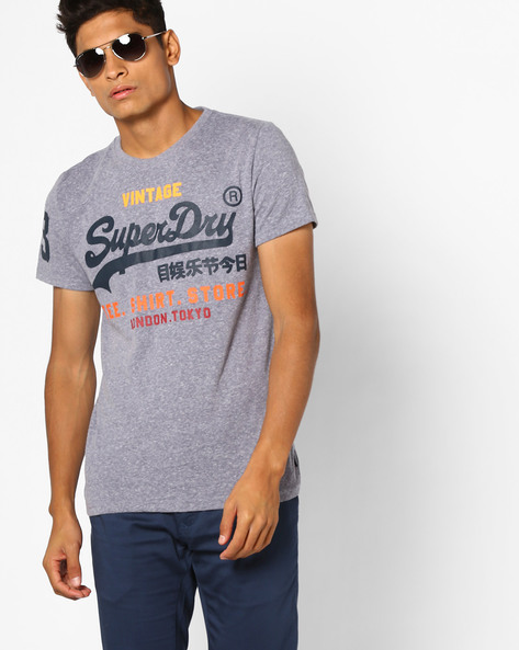 Printed Crew-Neck T-shirt By SUPERDRY ( Ai7 )