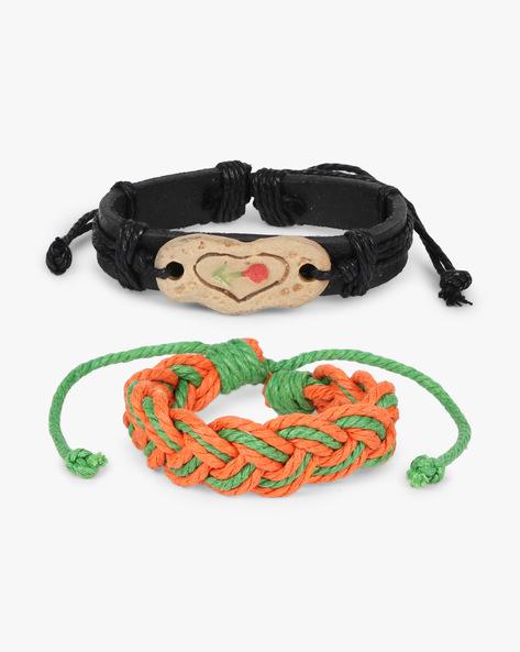 Pack Of 2 Bracelets By ALPHA MAN ( Orange )