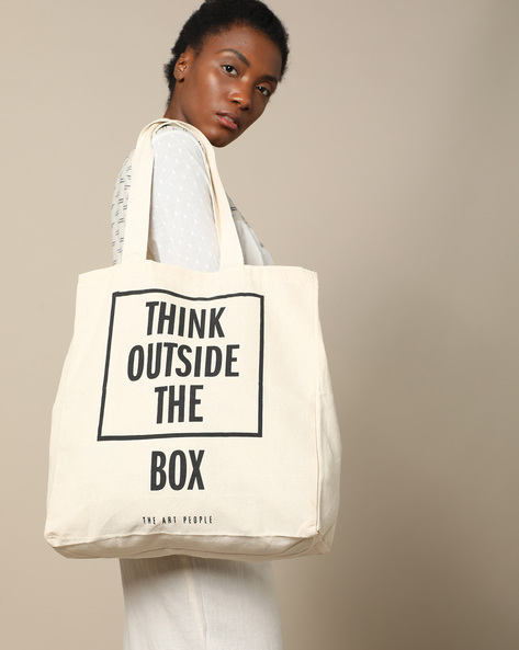 Multipurpose Cotton Canvas Tote Bag By The Art People ( White ) - 460179719001