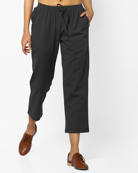 Calf-Length Pants With Tie-Up By Project Eve IW Casual ( Grey )