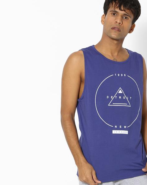 Slim Fit Printed Fashion Vest By Blue Saint ( Assorted )
