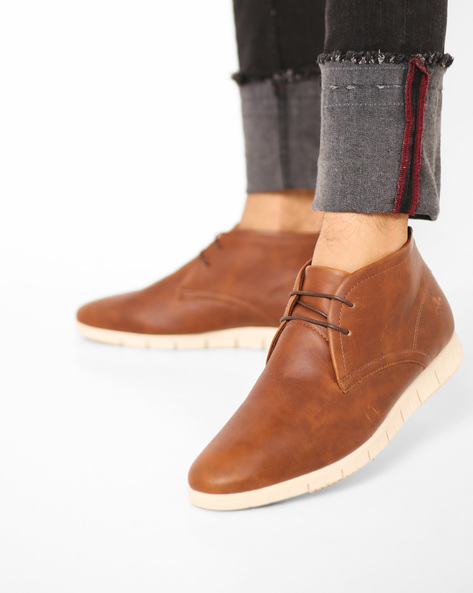Casual Lace-Up Boots By Bond Street By Red Tape ( Tan )