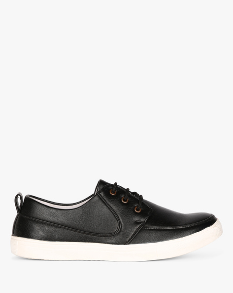 Low-Top Lace-Up Sneakers By Funk ( Black )