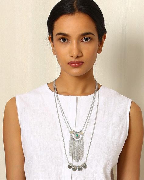 Multi-Strand Brass Necklace By Indie Picks ( Multi )