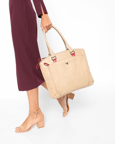 L Locker Y G Zoe Tote Bag By BAGGIT ( Beige )