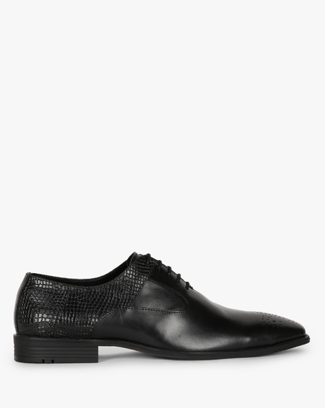 Panelled Lace-Up Shoes With Broguing By ALBERTO TORRESI ( Black )