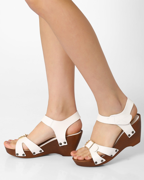 Wedge-Heel Sandals By MFT Couture ( White )
