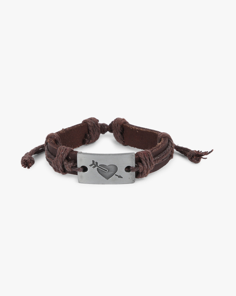 Bracelet With Metal Accent By ALPHA MAN ( Brown ) - 460134287001