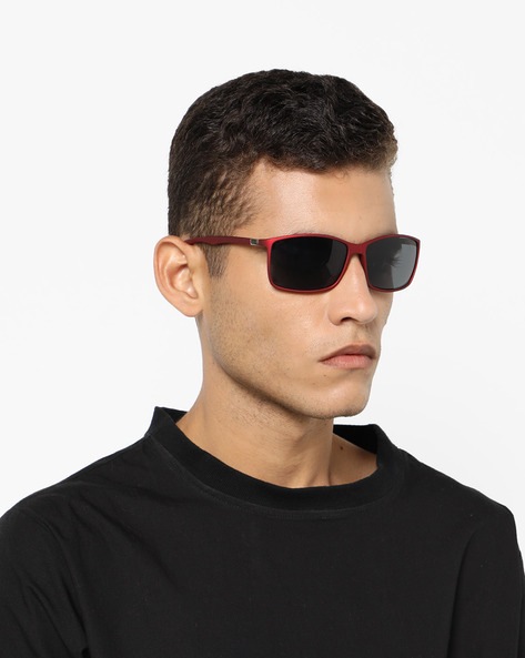 Polarised Wayfarer Sunglasses By ALVARO CASTAGNINO ( Red )