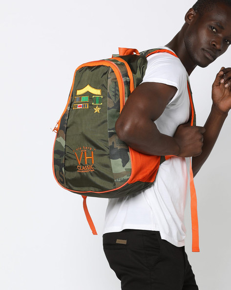 Dallas Army Laptop Backpack By Harp ( Green )