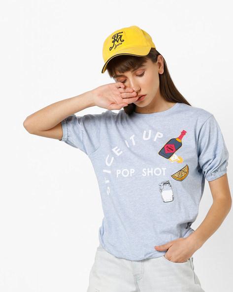 Typographic Print T-shirt By AJIO ( Blue )