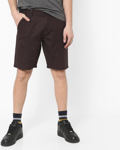 City Shorts With Side Slant Pockets By AJIO ( Olive )