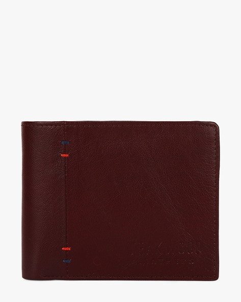 Genuine Leather Bi-Fold Wallet By TEAKWOOD LEATHERS ( Maroon )