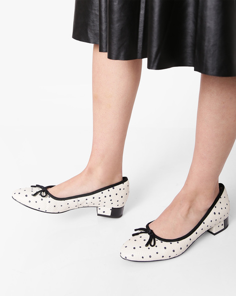 Eliberry Isla Polka-Dot Leather Shoes By CLARKS ( White )
