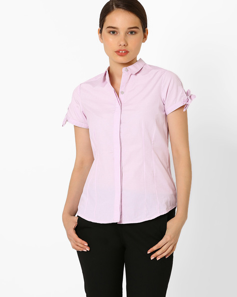 Checked Shirt By Annabelle By Pantaloons ( Pink )