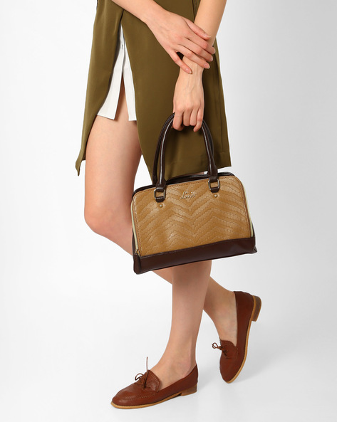 Textured Handbag With Short Handles By Lavie ( Brown ) - 460031545001
