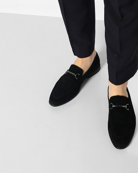 Faux-Leather N9-Treated Slip-On Shoes By AJIO ( Black ) - 460080157002