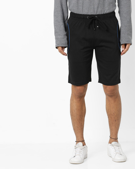 Shorts With Elasticated Waist & Side Pockets By US POLO ( Black )