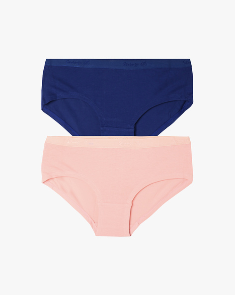 Pack Of 2 Hipster Panties By Ginger By Lifestyle ( Pink )