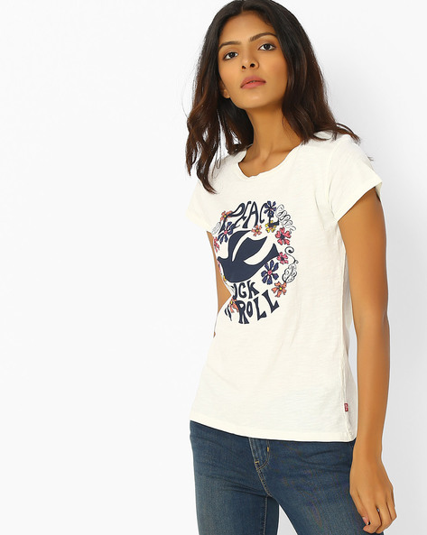 Graphic Print T-shirt By LEVIS ( White )