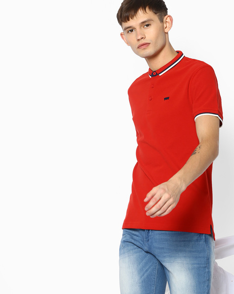 Polo T-shirt With Slim Collar By LEVIS ( Red )