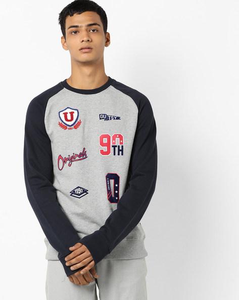 Colourblock Sweatshirt With Raglan Sleeves By Jack & Jones ( Grey )