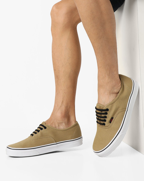 Authentic Lace-Up Casual Shoes By Vans ( Khaki )