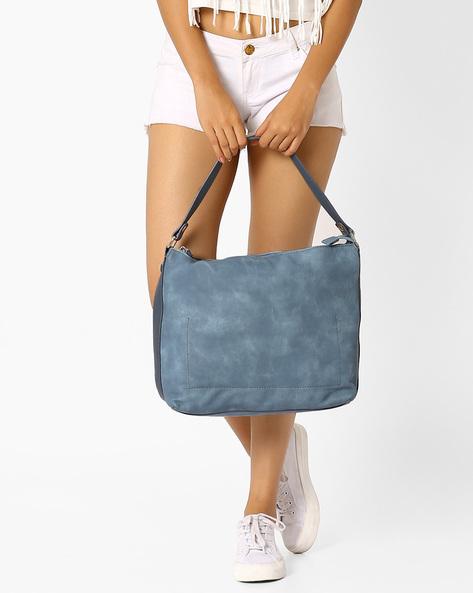 PU Hobo Bag By AJIO ( Blue )