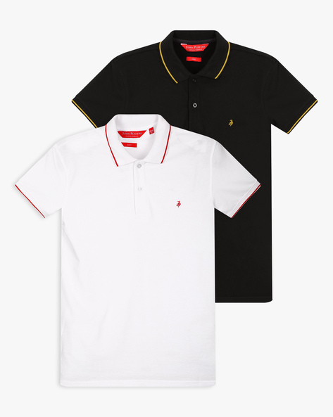 Pack Of 2 Cotton Polo T-shirts By JOHN PLAYERS ( Multi )