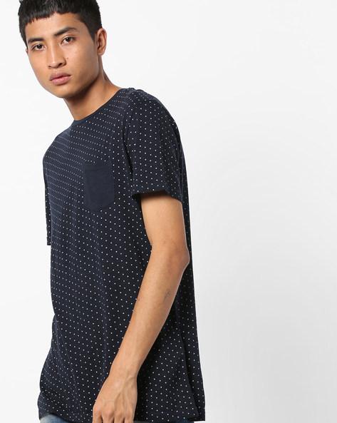 Polka-Dot Print T-shirt By Celio ( Indigo )