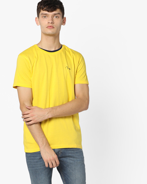 Crew-Neck T-shirt With Short Sleeves By SPYKAR ( Navy )