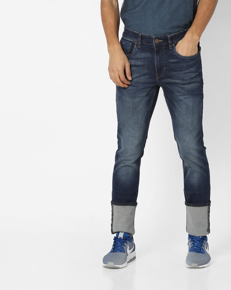 Regallo Skinny Fit Distressed Jeans By US POLO ( Blue )