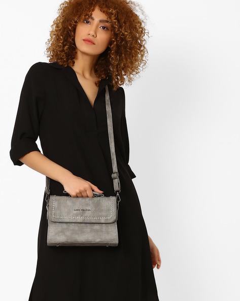 Textured Sling Bag By Lino Perros ( Grey )
