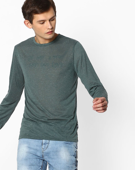 Crew-Neck Slim T-shirt By Jack & Jones ( Green )