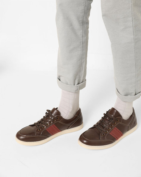 Panelled Lace-Up Casual Shoes By Bond Street By Red Tape ( Brown )