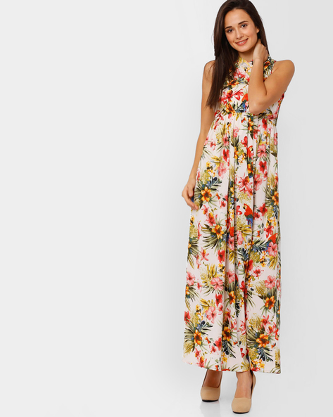 Tropical Print Maxi Dress By RIDRESS ( Printed )
