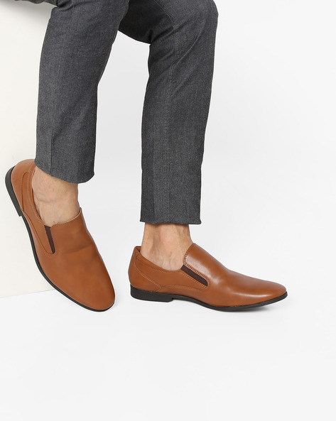 Slip-On Shoes With Elasticated Gussets By Bond Street By Red Tape ( Tan ) - 460131703001