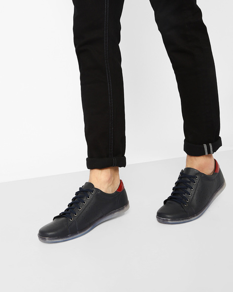 Sneakers With Translucent Sole By Knotty Derby ( Navy )