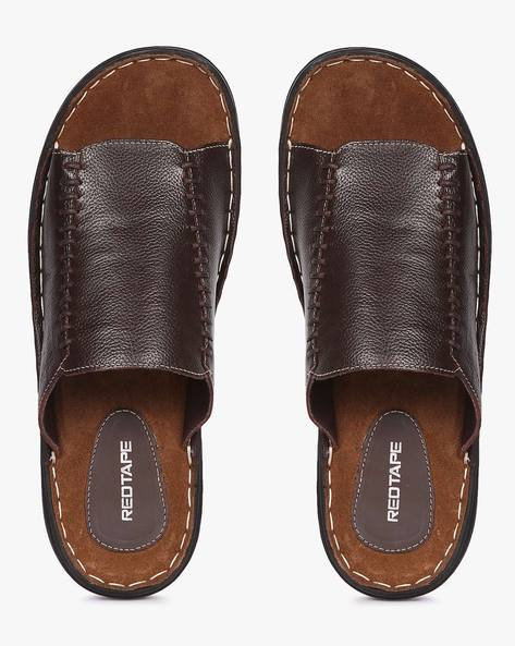 Slip-On Sandals With Panelled Construction By RED TAPE ( Brown )