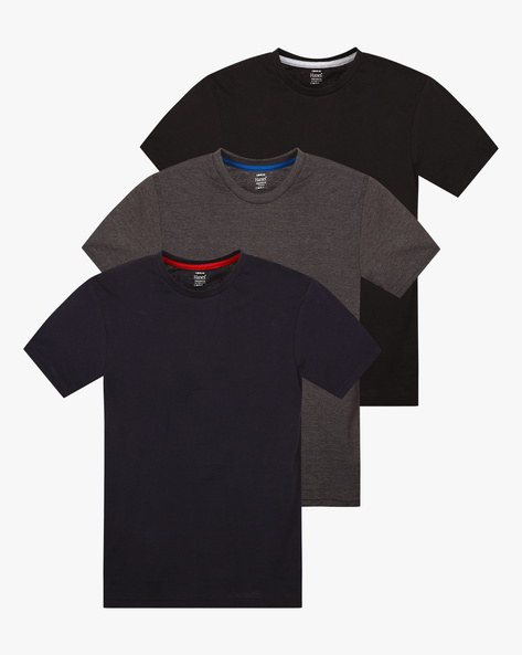Pack Of 3 Cotton T-shirts By HANES ( Multi )