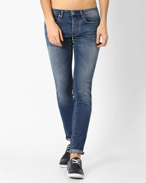 Slim Fit Lightly Washed Jeans By GAS ( Wa72 )