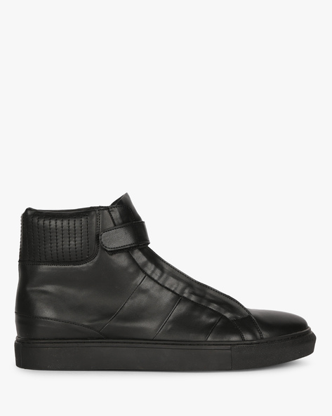 High-Top Sneakers With Velcro Tab By Funk ( Black )