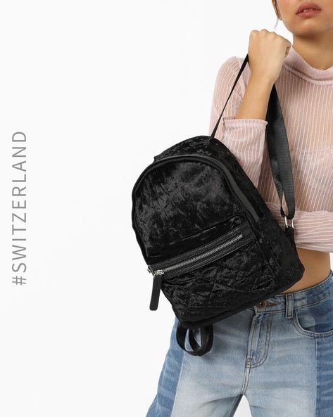 Backpack With Quilted Panel By TALLY WEiJL ( Black )
