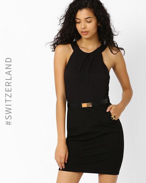Bodycon Dress With Belt By TALLY WEiJL ( Black )