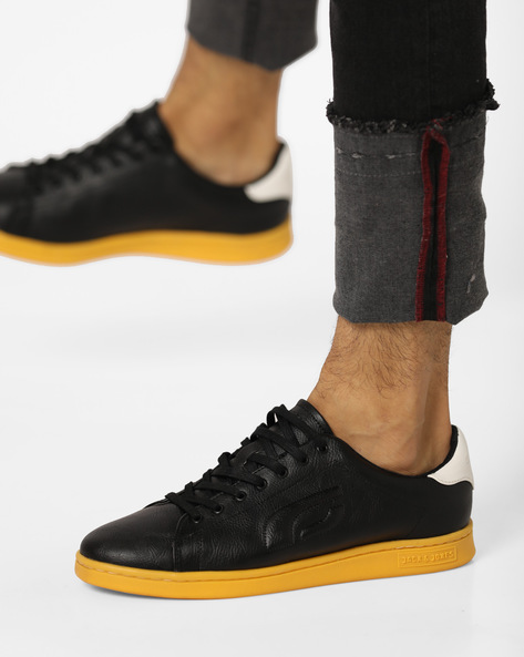 Lethin Panelled Lace-Up Shoes By Jack & Jones ( Lgtyellow )