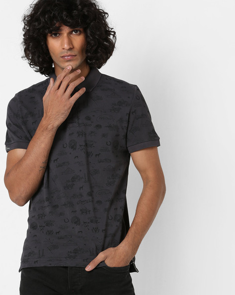 Printed Polo T-shirt With Vented Hemline By US POLO ( Assorted )