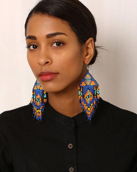 Beaded Drop-Earrings By Indie Picks ( Multi )