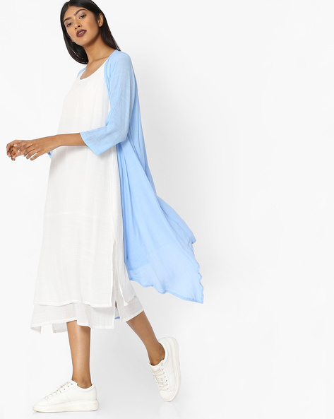 Layered Dress With Contrast Shrug By Tokyo Talkies ( Multi ) - 460135252001