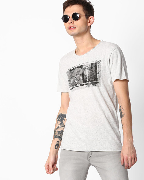 Graphic Print T-shirt By SELECTED ( White )